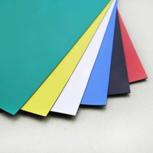 multiple sheets of colorful films