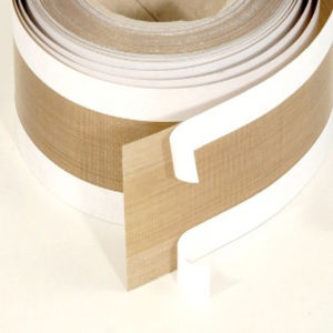 Adhesive zone laminated on ptfe glass cloth tape